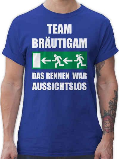 Shirtracer T-Shirt »JGA Team Bräutigam - Das Rennen war aussichtslos - JGA Junggesellenabschied Männer - Herren Premium T-Shirt«