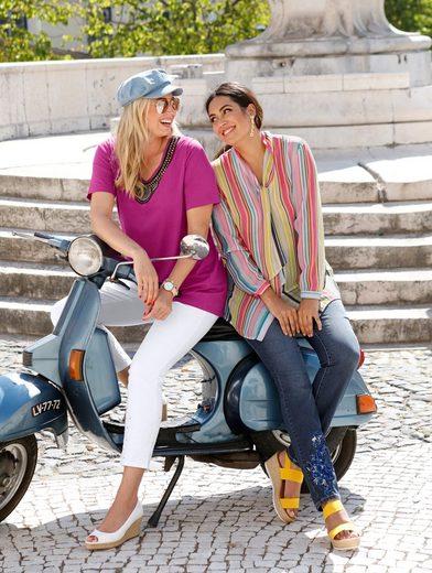 MIAMODA Jeans mit Paillettenapplikation