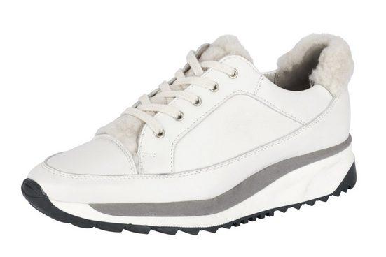 Werner Schuhe Sneaker mit Lammfellbesatz mit Lammfellbesatz