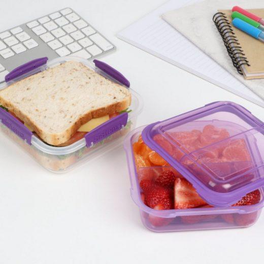 sistema Aufbewahrungsbox »Lunchbox Stack 1.24l, transparent-lila«, Kunststoff (lebensmittelsicher)