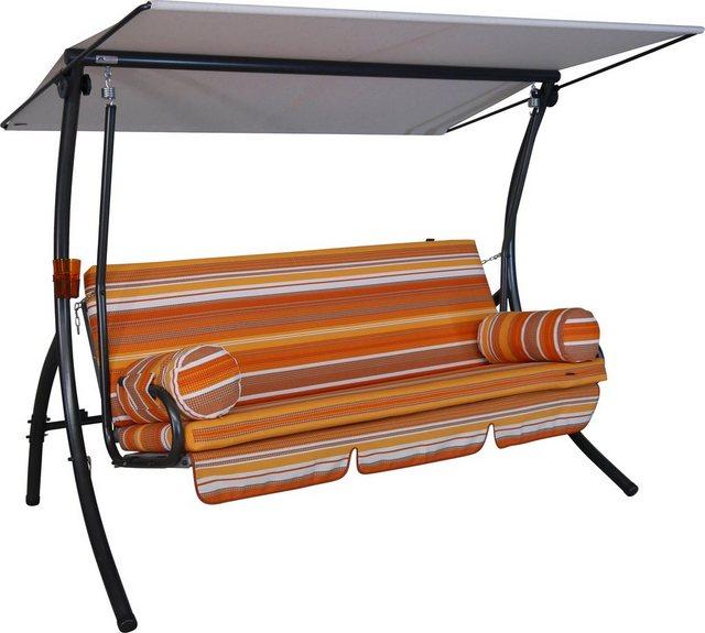 Empfehlung: Hollywoodschaukel Cadiz Orange aus robustem Stahl  von Angerer Freizeitmöbel*