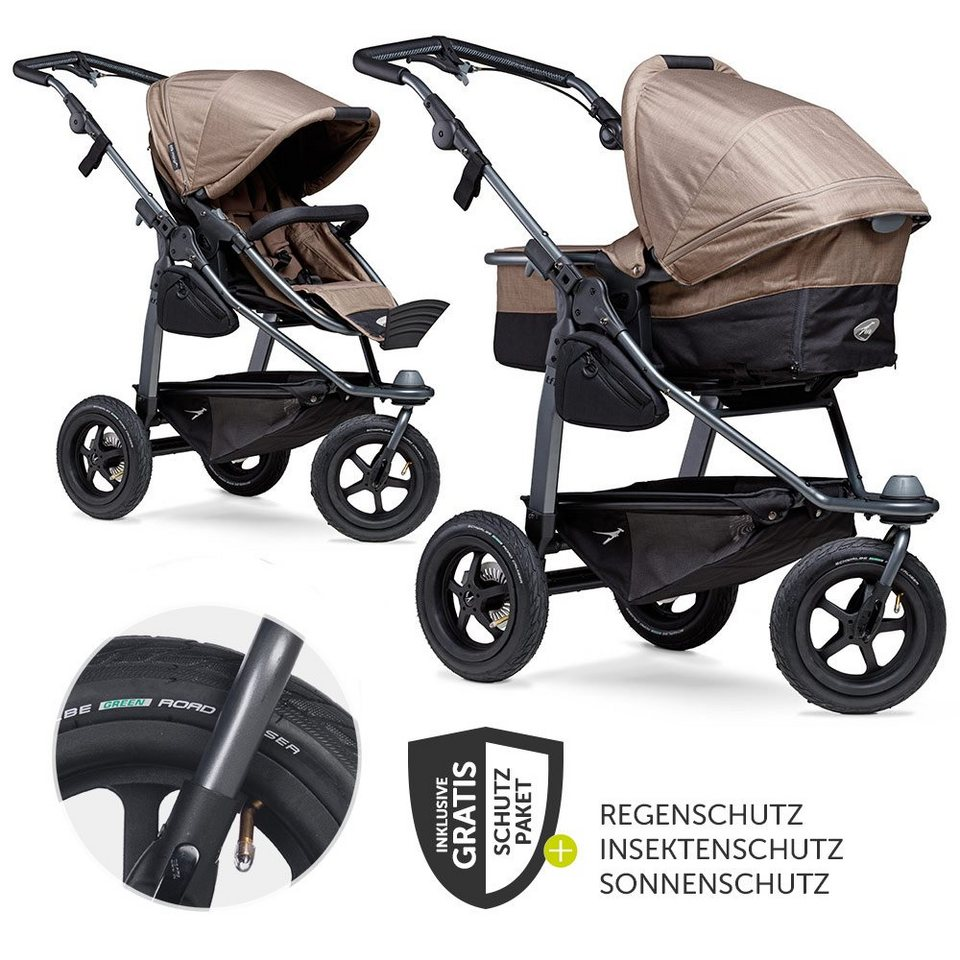 tfk Kombi-Kinderwagen »Mono - Braun«, (7-tlg), mit ...