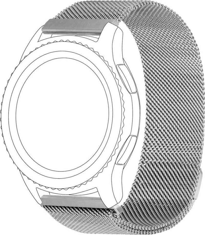topp Accessoires Wechselarmband »Smartwatch-Zubehör Band Silber Netz«