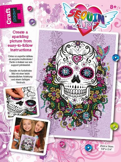 MAMMUT Spiel und Geschenk Kreativset »Sequin Art Teen Craft - Flower Skull«