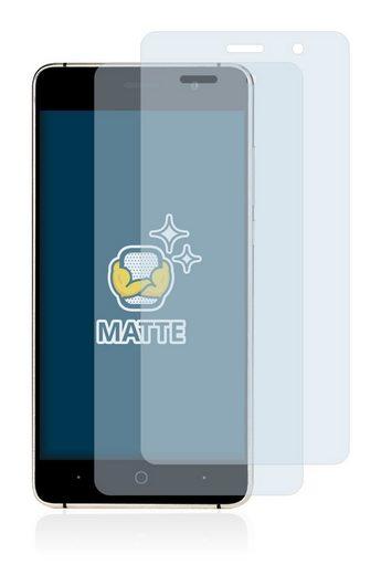 BROTECT Schutzfolie »für Doogee X10«, (2 Stück), Folie Schutzfolie matt entspiegelt