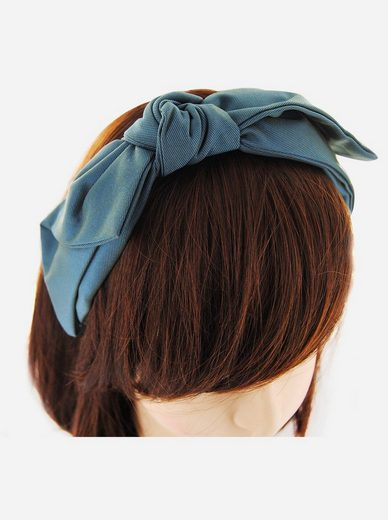 axy Haarreif »Haarreif mit Schleife«, Vintage Damen Breiter Haareifen Haarband mit leichten Glanz