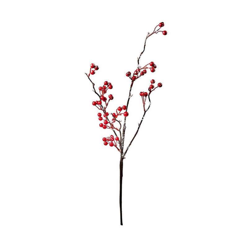 Kunstblume »WINTERGREEN 2x Beerenzweig gefrostet Länge 54cm«, BUTLERS, Höhe 0 cm
