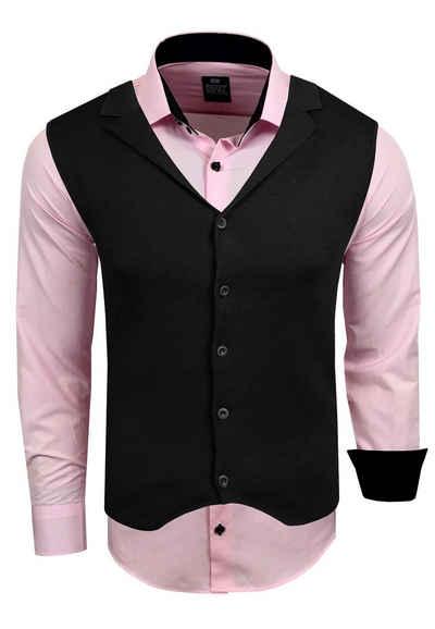 Rusty Neal Langarmhemd inklusive Langarmhemd und Weste