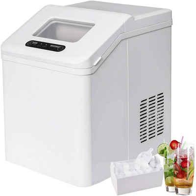 Woltu Eiswürfelmaschine EM02ws, Eiswürfelmaschine 2,5 Liter Wassertank Selbstreinigungsmodus 20kg 24h weiß