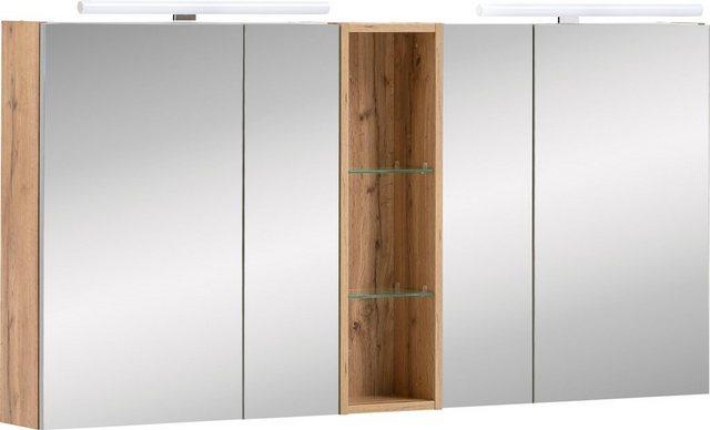 Spiegel - Schildmeyer Spiegelschrank »Duo« Breite 141,6 cm, mit LED Beleuchtung  - Onlineshop OTTO