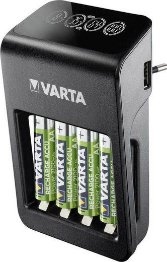 VARTA »VARTA LCD Plug Charger+ 4x AA Accus« Batterie-Ladegerät (200/450/34/2400 mA, Set, 5-tlg)