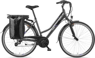 Telefunken E-Bike »Expedition XT480«, 21 Gang Shimano, Heckmotor 250 W, mit Fahrradtasche