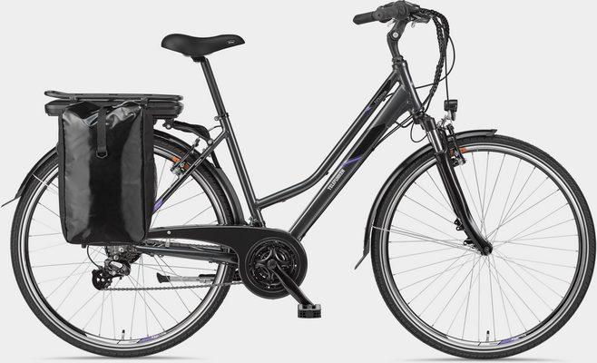 E-Bike »Expedition XT480«, 21 Gang Shimano, Heckmotor 250 W, mit Fahrradtasche