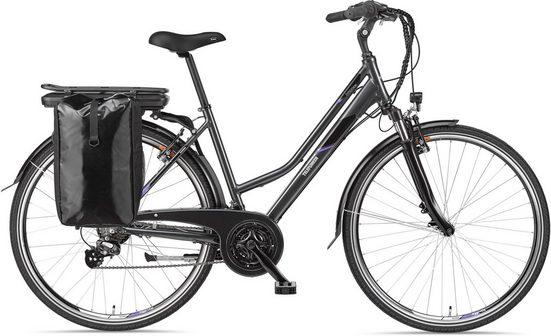 Telefunken E-Bike »Expedition XT480«, 21 Gang Shimano Altus Schaltwerk, Heckmotor 250 W, mit Fahrradtasche