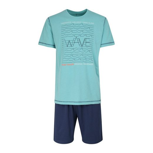 TOM TAILOR Pyjama »Herren Schlafanzug 2-tlg. Set - Shorty, kurz,«