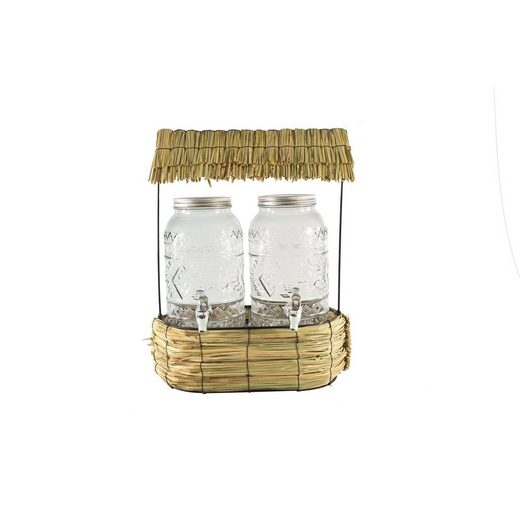 Neuetischkultur Gläser-Set »2 Getränkespender mit Hütte«