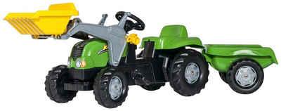 Rolly Toys Tretfahrzeug, Traktor mit Trailer und Lader