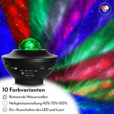 NORDFELD LED Nachtlicht »NORDFELD Sternenhimmel LED-Projektor, Kinder Nachtlicht Lampe mit Fernbedienung, Bluetooth Lautsprecher & Timer Funktion«