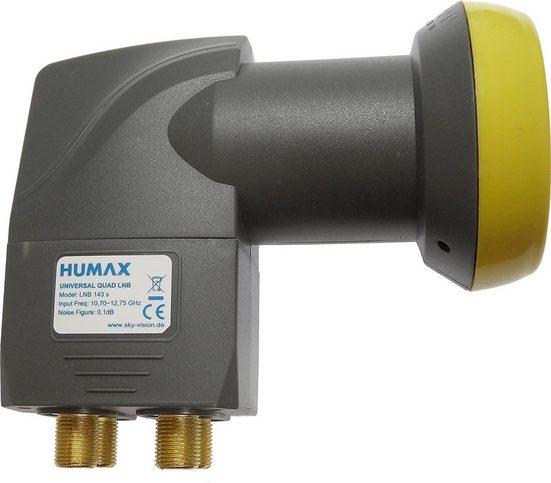 Humax »HUMAX Digital LNB 143s-B Quad Switch (Quad LNB, 4« Universal-Quad-LNB