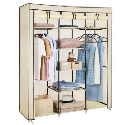 SONGMICS Kleiderschrank »RYG12B RYG12G RYG12M« Stoffschrank, faltbare Garderobe, Kleiderständer, Aufbewahrung, 150 x 45 x 175 cm, beige