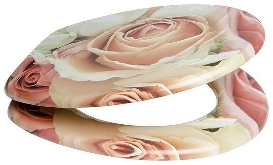 SANILO WC-Sitz »Rosa Rose«, mit Absenkautomatik