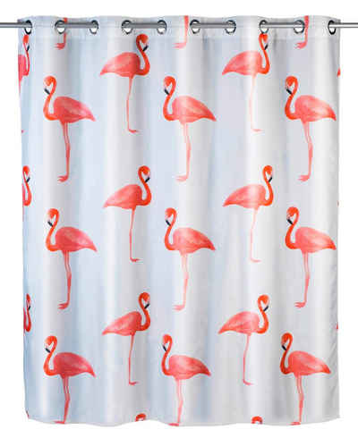 WENKO Duschvorhang »Flamingo« Breite 200 cm, Höhe 180 cm
