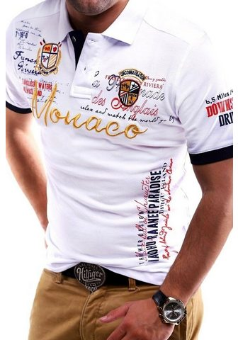 behype Polo marškinėliai »MONACO« in Piqué-Qu...