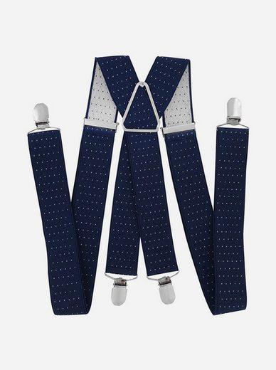 axy Hosenträger »Herren Hosenträger mit Punkten« Herren Hosenträger 4 Stabile Clips X-Form 3,5cm Breit verstellbar und elastisch 120cm Lang
