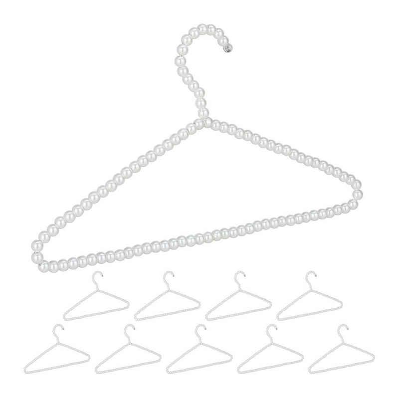 relaxdays Kleiderbügel »Perlen Kleiderbügel 10er Set«