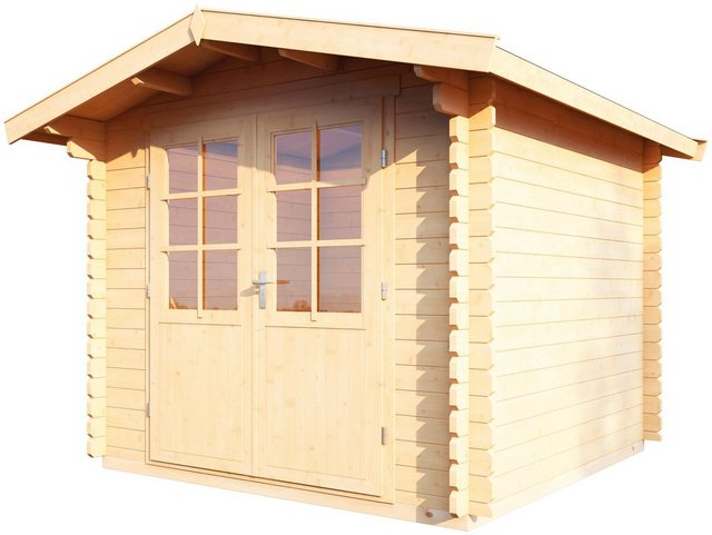 Wolff Finnhaus Holz-Gartenhaus Bibertal 28-A 240 cm x 240 cm