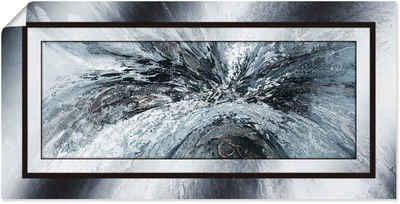 Artland Wandbild »Schwarz - weiß abstrakt 1«, Muster (1 Stück), in vielen Größen & Produktarten - Alubild / Outdoorbild für den Außenbereich, Leinwandbild, Poster, Wandaufkleber / Wandtattoo auch für Badezimmer geeignet
