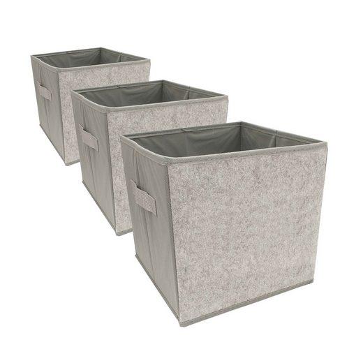 HTI-Living Aufbewahrungsbox »Aufbewahrungsbox Paloma 3er Set mit Buchstaben« (4 Stück), Aufbewahrungsbox