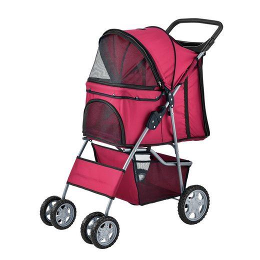 Pro-tec Tiertransporttasche, Hundewagen Pet Stroller Hundebuggy Regenschutz zum Schieben Roadster