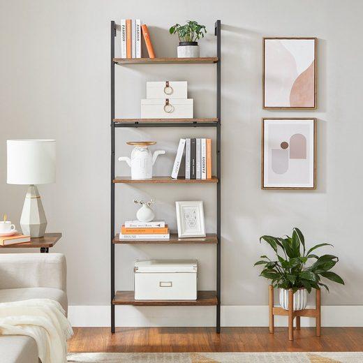 VASAGLE Standregal »LLS102B01«, Bücherregal, Leiterregal, Wohnzimmer, Büro, Schlafzimmer, vintage