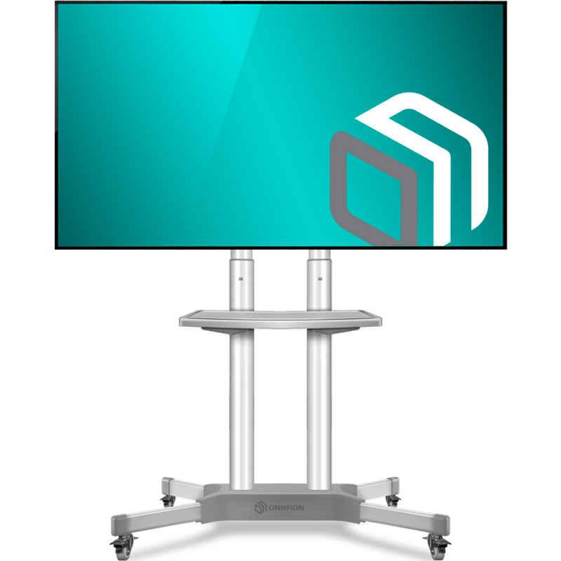 ONKRON »TV Ständer mit Rollen TS1351-WHT« TV-Ständer, (bis 65,00 Zoll TV Rollwagen, TV Rollwagen, universal, höhenverstellbar, rollbar, mit Bewegunssperre, VESA 100x100-600x400 mm, tragbar bis 45,5 kg, wei)