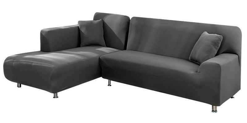 Sofahusse »L Form Stretch-Sofa deckt Möbelbezug, Seidige Weichheit, Heimtextilien«, Rosnek