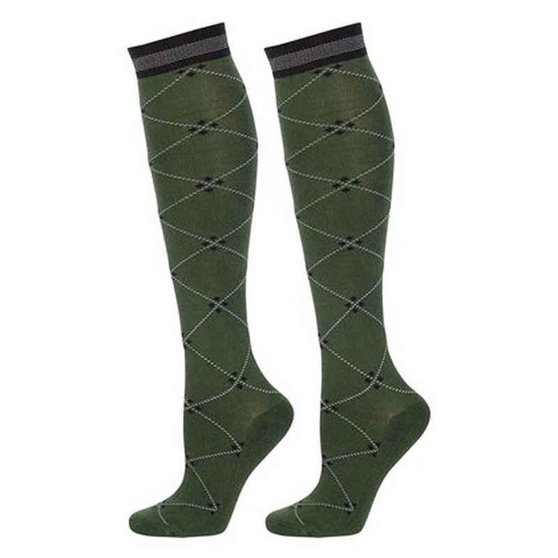 Harry's horse Reitsocken »Square Kniestrümpfe dark-green« mit verstärkter Fußsohle,Ferse u. Zehen