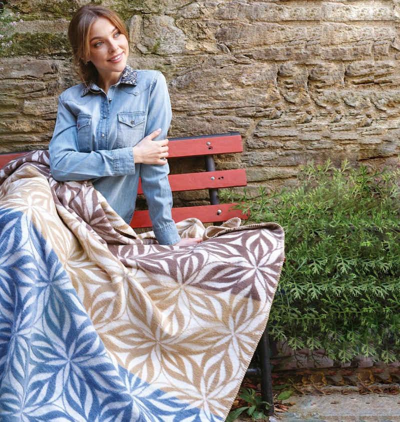 Plaid »Mandala Blue-Sand«, SEI Design, 58% Baumwolle