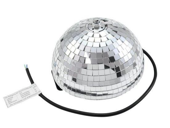 SATISFIRE Discolicht »Spiegelkugel halb 20cm - für Deckenmontage - Diskokugel Echtglas - 10x10mm Spiegel - PROFI«
