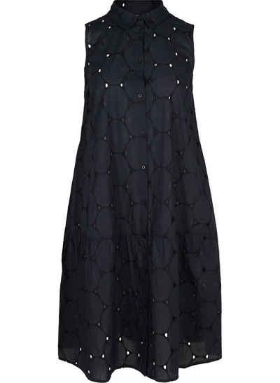 Zizzi Shirtkleid Große Größen Damen Baumwollkleid mit Knöpfen und Kragen