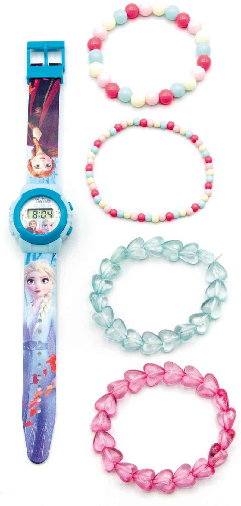 Joy Toy Digitaluhr »Disney Eiskönigin, 20750«, (Packung, 5-tlg., LCD Uhr mit 4 Perlenarmbändern)