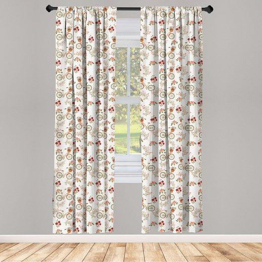 Gardine »Vorhang für Wohnzimmer Schlafzimmer Dekor«, Abakuhaus, Blumen Bikes Mohnblu online ...