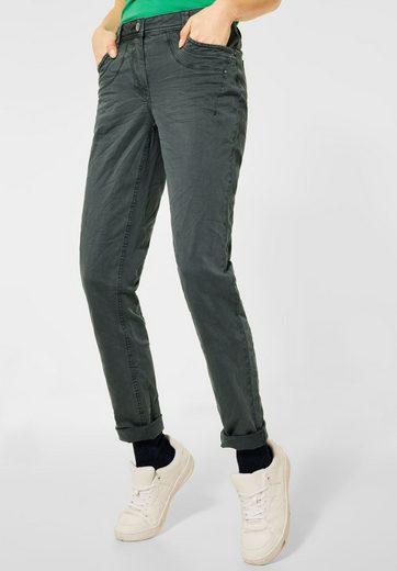 Cecil Comfort-fit-Jeans mit Crash-Effekt