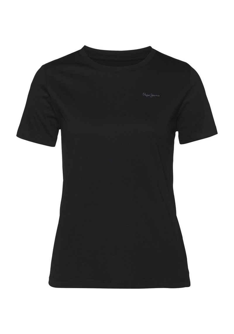 Pepe Jeans T-Shirt »TOMASA« ein besonderes Basic Shirt mit coolem Marken-Logo-Design