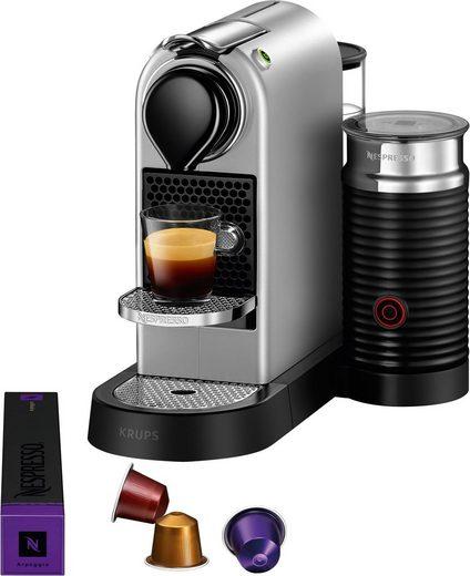 Nespresso Kapselmaschine XN761B New CitiZ & milk, mit Aeroccino Milchaufschäumer, 19 bar
