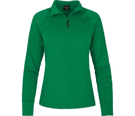 Bergson Fleeceshirt »UNNA« Damen Skrolli, warm, elastisch, innen angeraut, Normalgrößen, grün