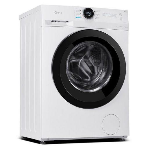 Midea Waschmaschine MF200W70B-E, 7 kg, 1400 U/min, Steam Care, Nachlegefunktion, Allergy Care, Schnellwäsche