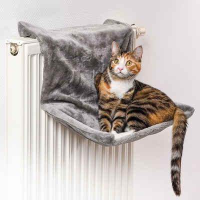 Canadian Cat Company Katzen-Hängematte »Liegemulde für Katzen - grau«, zur Befestigung am Heizkörper