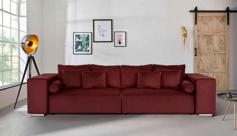 INOSIGN Big-Sofa »Aliya«, incl. Bettfunktion und Bettkasten, Breite 290 cm,incl. Zierkissen
