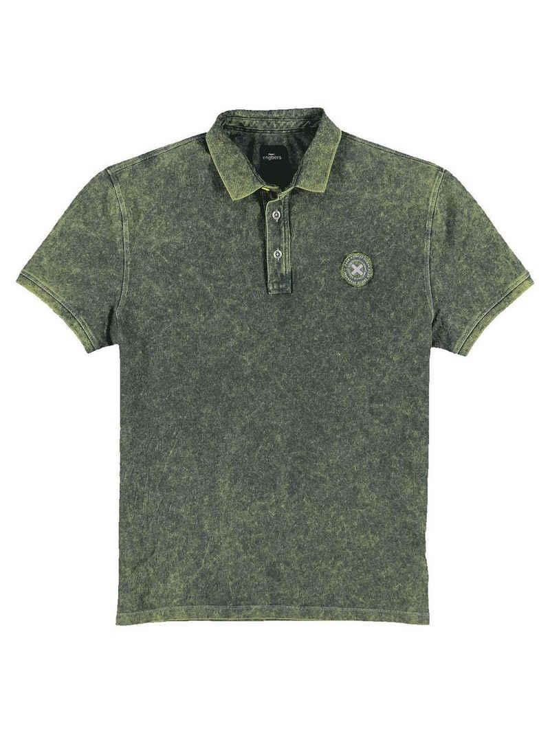 Engbers T-Shirt »Polo-Shirt gemustert«